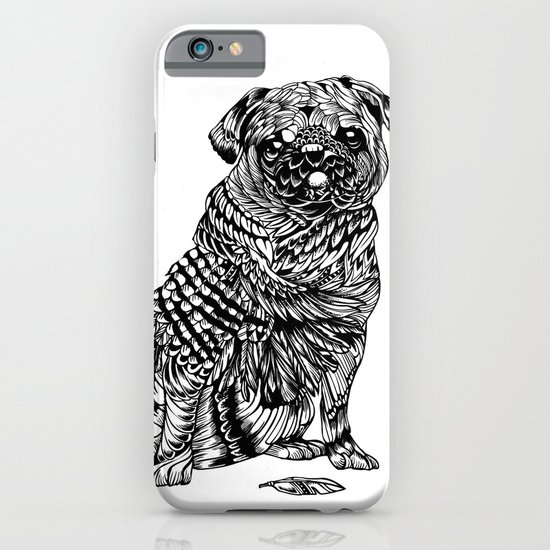 Pug Feather iPhone & iPod Case