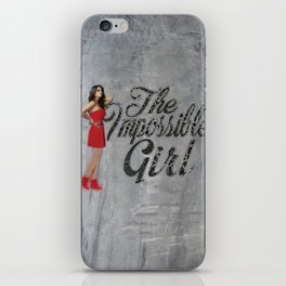 The Impossible Girl iPhone Skin