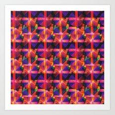 Abstract blocks pattern 2 Art Print