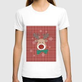 Deer. Patchwork T-shirt