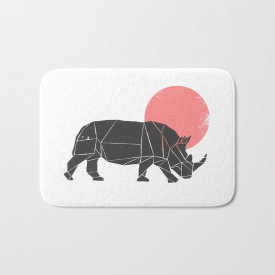 Geometric Rhino Bath Mat