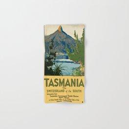 Vintage poster - Tasmania Hand & Bath Towel