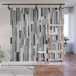 Stacked BW Wall Mural