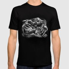 Getting Handsy (smothering, groping, hands) Mens Fitted Tee MEDIUM Black