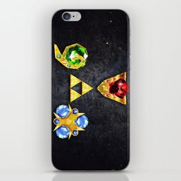 The Timeless Legend of Zelda Inspired Spiritual Stones iPhone Skin