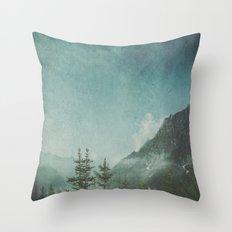 Misty Wilderness - Italian Alps Throw Pillow