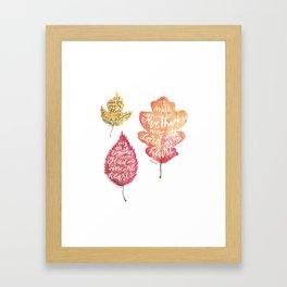 Autumn Leaves | Grace Falls Down Framed Art Print