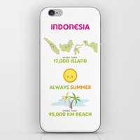 indonesia iPhone & iPod Skins featuring Indonesia by Franciska Windy