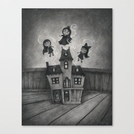 Haunted Doll House Canvas Print