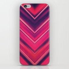 Modern Red / Black Stripe Abstract Stream Lines Texture Design (Symmetric edition) iPhone & iPod Skin