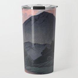 Hasui Kawase, Mount Kamagadake, Hida At Dusk - Vintage Japanese Woodblock Print Art Travel Mug