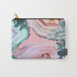 Mineral Agates & Garden #Glam collection Carry-All Pouch