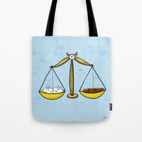 libra Tote Bags featuring Libra by Giuseppe Lentini