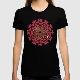 Vortex Original | Tessellating Red Bird Geometric Pattern Inspired By M.C. Escher T-shirt