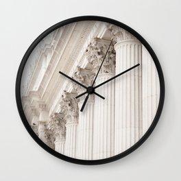 City Columns Wall Clock