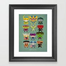 avengers and villains Framed Art Print