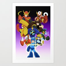 Megaman 2 Art Print
