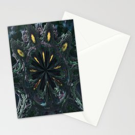 Fractal mouth of Alien Stationery Cards
