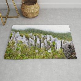 Limestone pinnacles formation at Gunung Mulu national park Borneo Malaysia Rug