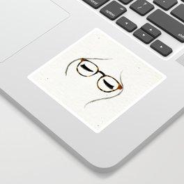 Tortoiseshell Glasses Brunette Sticker