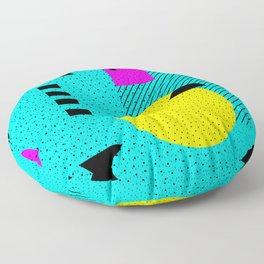 Hello Memphis Lemon Splash Floor Pillow