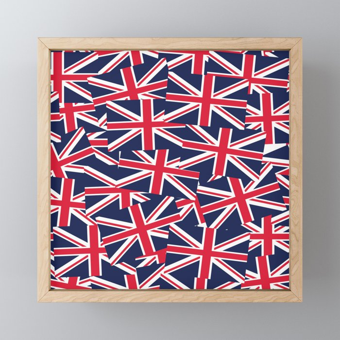 Union Jack Flags Framed Mini Art Print