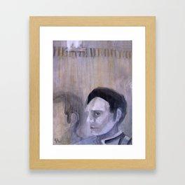 Gray Man Framed Art Print