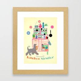 Kitchen Stroller Framed Art Print