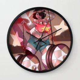 Smokey Quartz Wall Clock