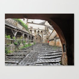 A Passageway in Dracula's Birthplace Sighisoara, Transylvania Canvas Print