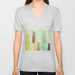 [161228] 9. Abstract Watercolour Color Study |Watercolor Brush Stroke Unisex V-Neck