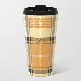 Gold Tartan Travel Mug