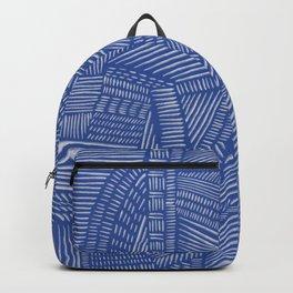 Mud Cloth / Blue Backpack