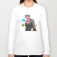 dentist Long Sleeve T-shirts featuring Hippopotamouth by Oliver Lake