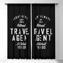 Travel Agent Work Job Title Gift Blackout Curtain
