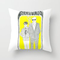 rushmore Throw Pillows featuring Rushmore by Vannia Palacio