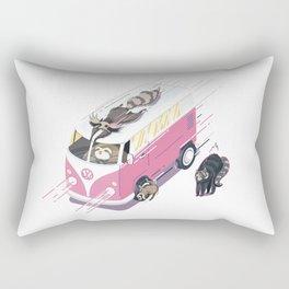 Hippie pink bus Rectangular Pillow