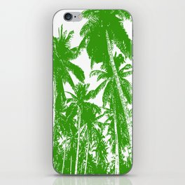 Palm Trees Design in Green and White iPhone Skin