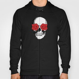 Skull and Roses | Grey and Red Hoody