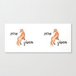 zero fox given mug Canvas Print