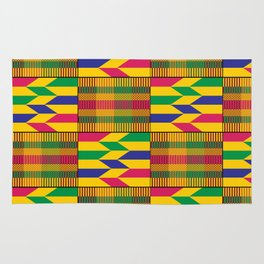 West African Kente Pattern Rug