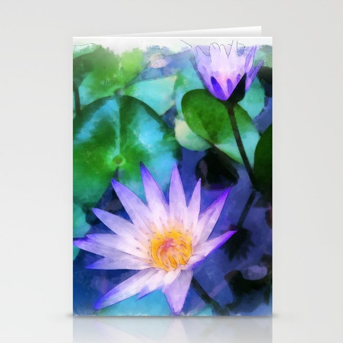 Purple Lotus Stationery Cards
