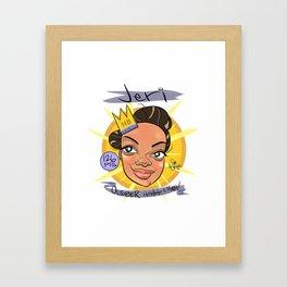 Jeri! October Honeybadger Of the Month! Framed Art Print