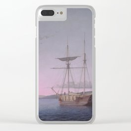 Fitz Henry Lane Lumber Schooners at Evening on Penobscot Bay 1863 Clear iPhone Case