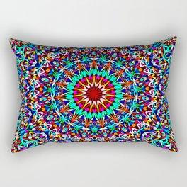 Colorful Life Garden Mandala Rectangular Pillow