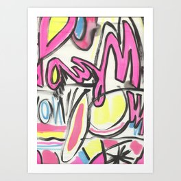 60's GRAFITTI Art Print