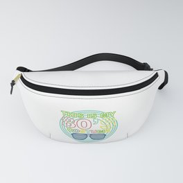 I Love 80s Eighties Fancy Dress Theme Party Gift Fanny Pack