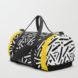 Survival Knives Pattern - Black and White Duffle Bag