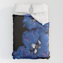Purple Blue Delphinium Trio Comforters
