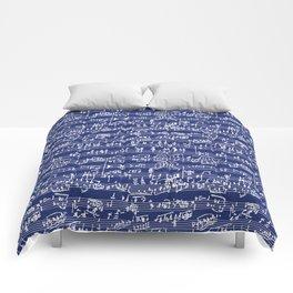 Hand Written Sheet Music // Midnight Blue Comforters